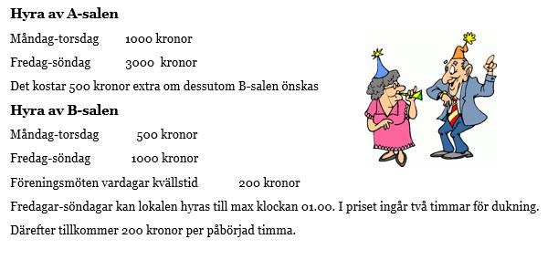 8145ecb50536 Prislista | Åby Folkets Hus